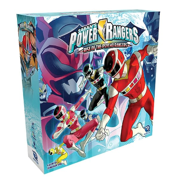 The box for the newly-Kickstarted expansion, Power Rangers: Rise of the Psycho Rangers.