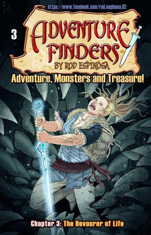 The cover of Adventure Finders #3 from Action Lab Entertainment with Rod Espinosa as the creative team.