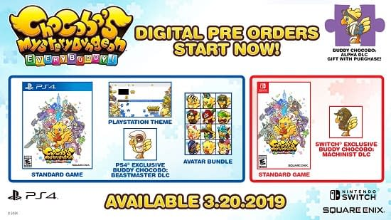Chocobo's Mystery Dungeon Every Buddy is Available for Pre-Order