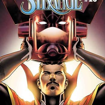 Doctor Strange Puts on His Galactus Hat in April