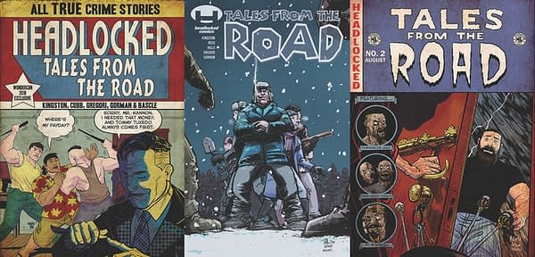 Headlocked: Tales from the Road homage covers by Mulipola, Hills, Mulipola.