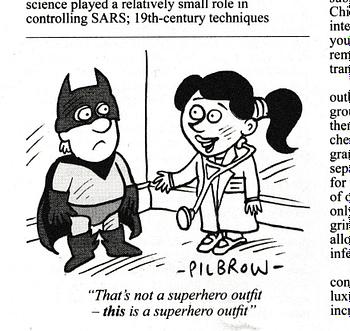 Batman cartoon by Pilbrow