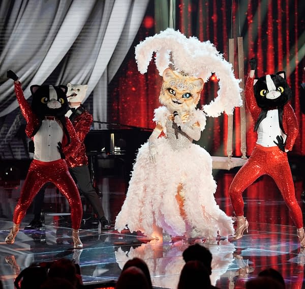 The Kitty on The Masked Singer, courtesy of FOX.
