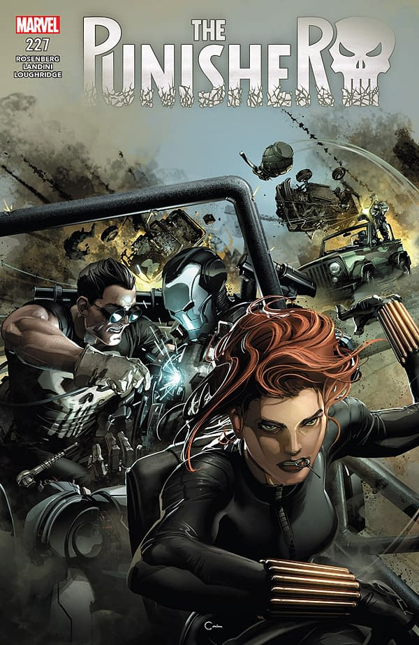 Punisher #227 cover by Clayton Crain