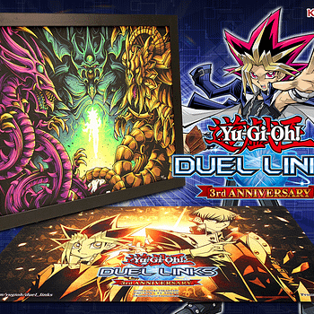 """Giveaway: """"Yu-Gi-Oh! Duel Links"""" 3rd Anniversary Framed Print"""