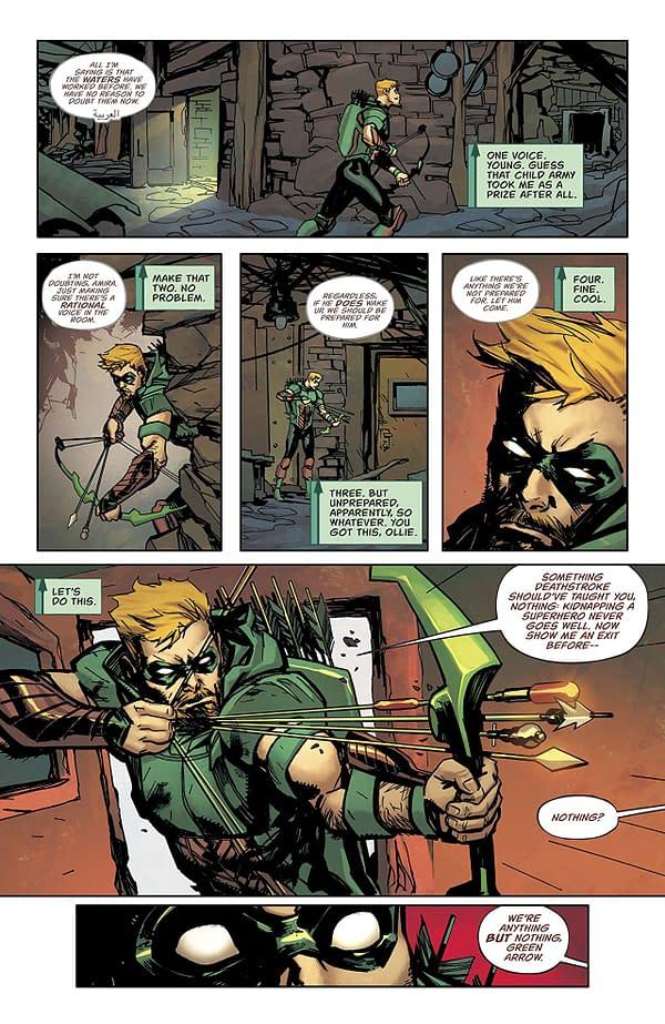 Green Arrow #40 art by Marcio Takara and Marcelo Maiolo