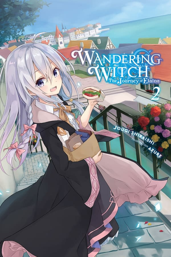 The cover of Wandering Witch: The Journey of Elaina, Vol. 2 (light novel) by Yen Press.
