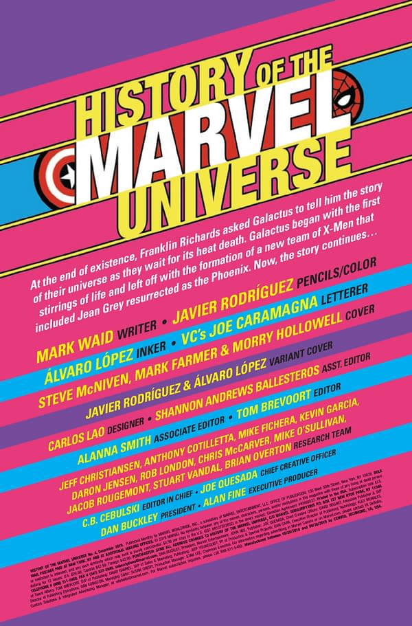 History of the Marvel Universe #4 [Preview]