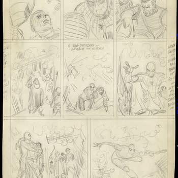 John Romita unused Spider-Man art page.