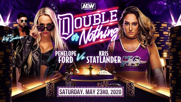 Penelope Ford replaces Britt Baker against Kris Statlander at AEW Double or Nothing.