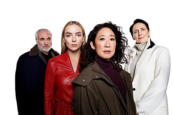Villanelle, Konstantin, Eve, and Carolyn have their own agendas this season on Killing Eve, courtesy of BBC America.