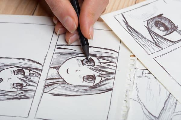 Comic Book Publisher Artist drawing comic art