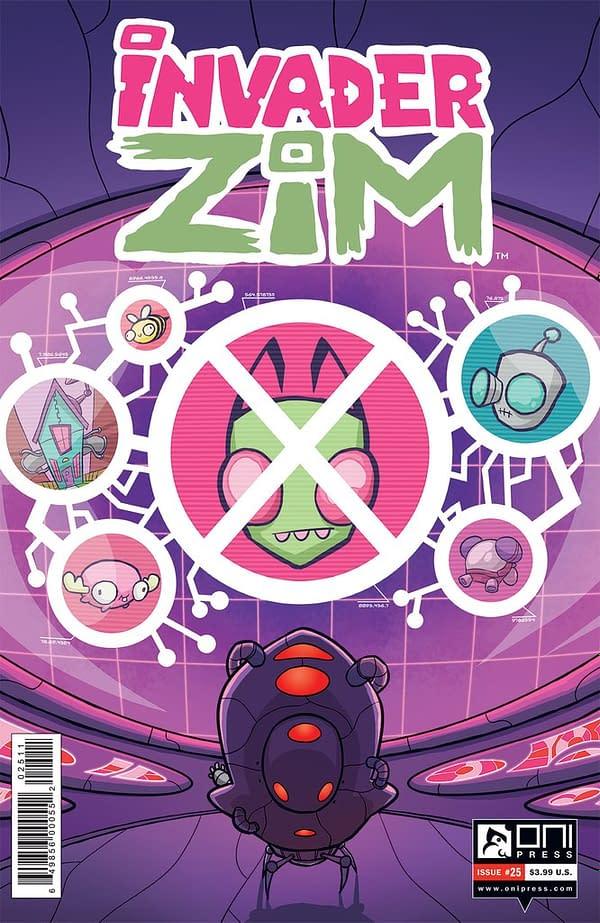 Invader Zim #25 cover by Warren Wucinich