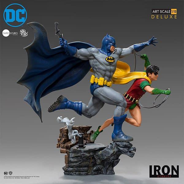 Statue de Batman et Robin à l'échelle 1/10 des studios Iron