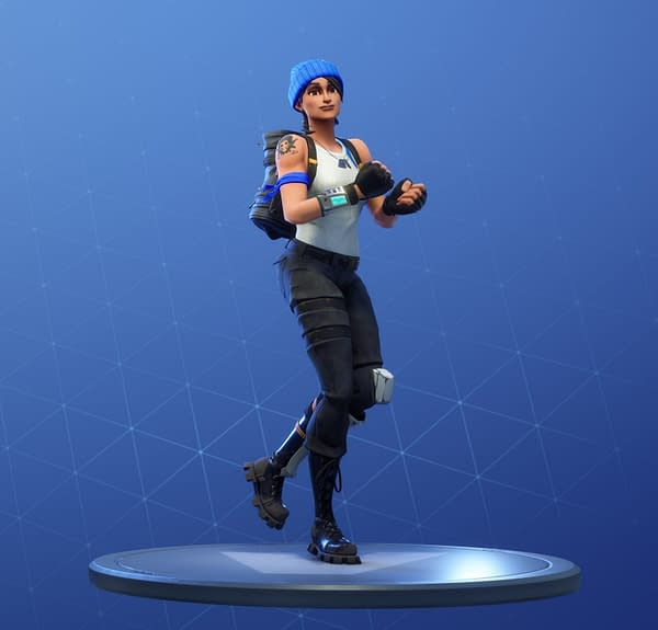"A character doing the ""Running Man"" dance in Fortnite, courtesy of Epic Games."