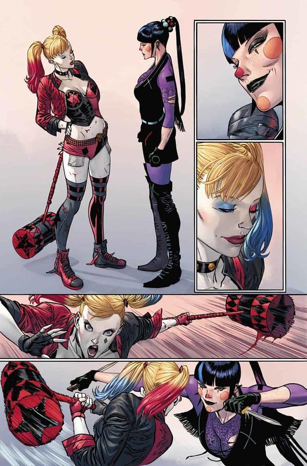 Punchline vs Harley Quinn, interior page