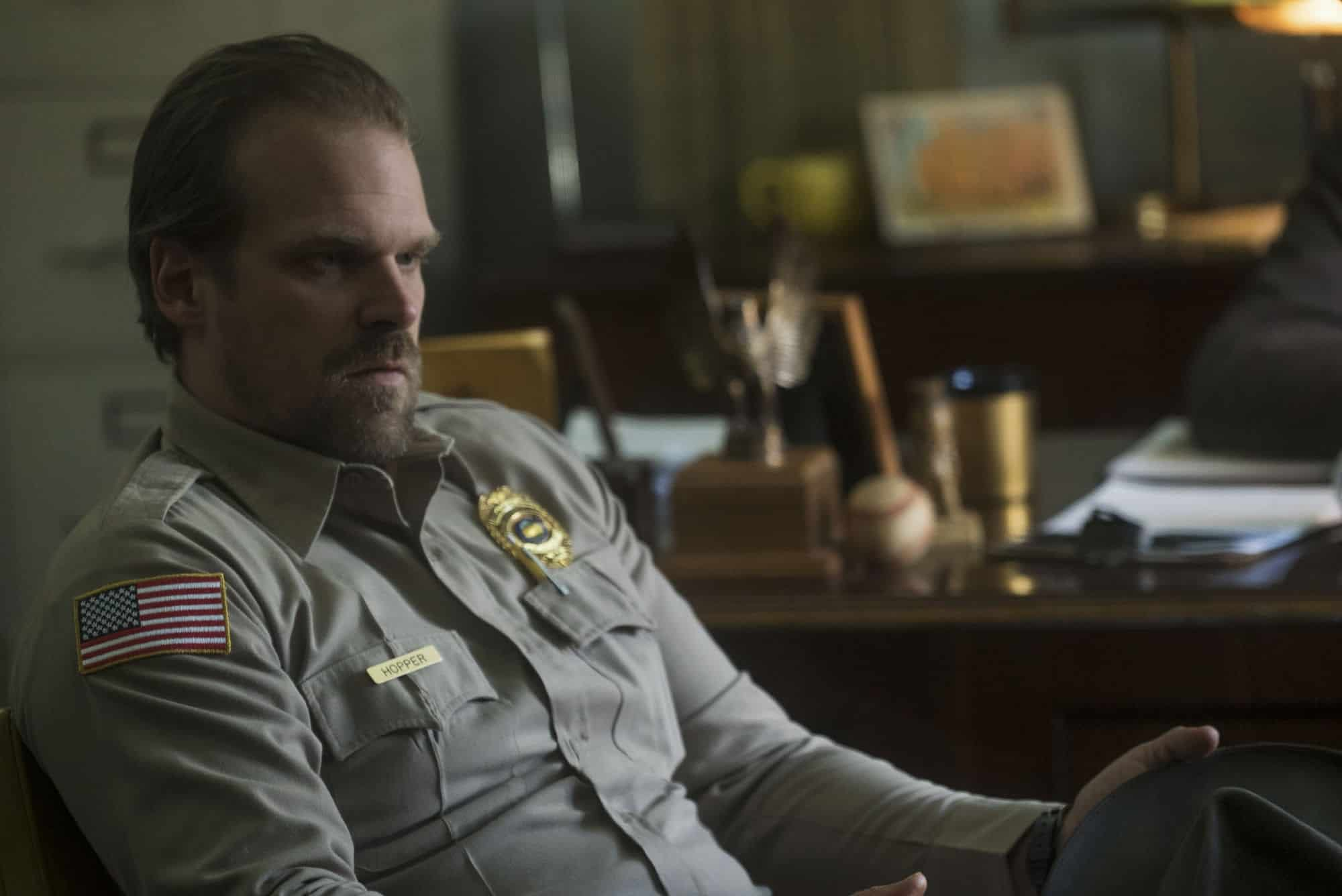 "David Harbour Believes 'Stranger Things' Chief Hopper is ""Very Good Dude"""