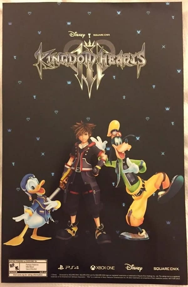 D23 Kingdom Hearts 3 Exclusive Panel Poster