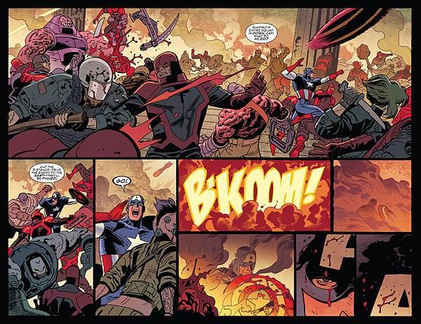 Captain America #700 art by Chris Samnee and Matthew Wilson