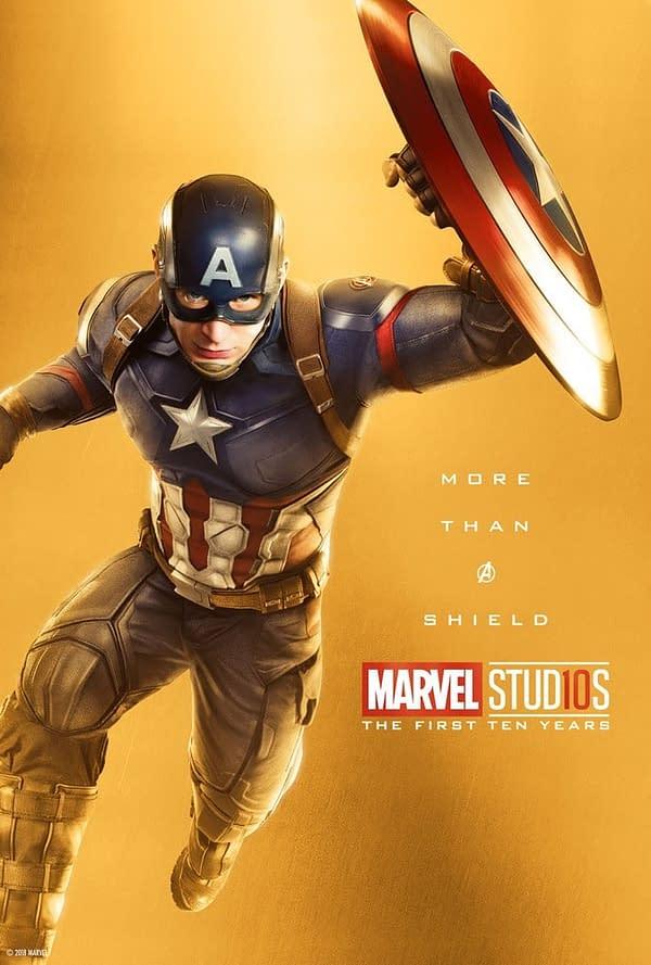 Marvel Studios More Than A Hero Poster Series Captain America