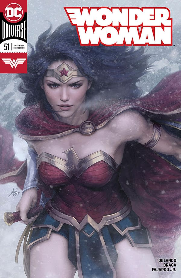 "Wonder Woman #51 cover by Stanley ""Artgerm"" Lau"