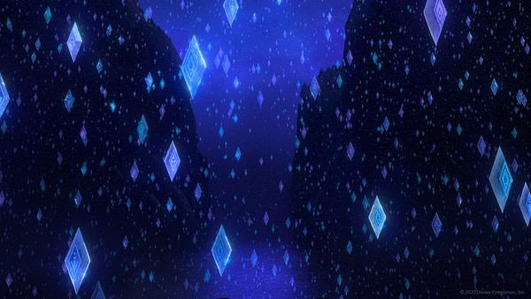 Les éléments de glace de Frozen 2.