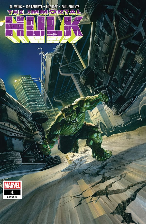 The Immortal Hulk #4 cover by Alex Ross