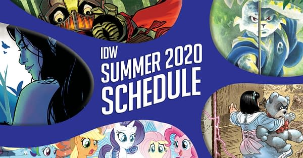 The logo for the IDW Summer 2020 Schedule.