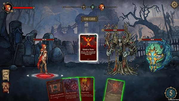 Another example of the combat in Deck of Ashes.