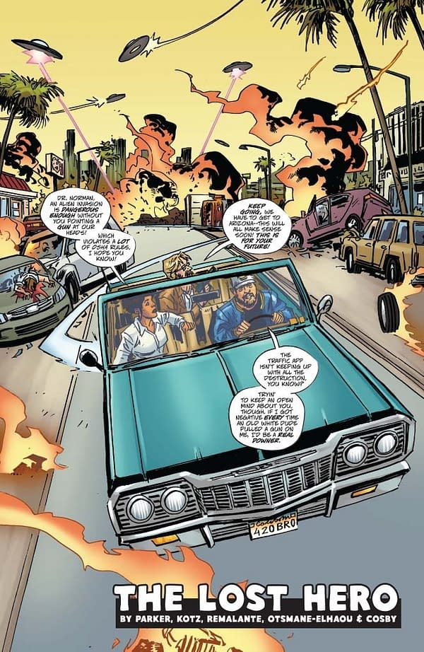 Jeff Parker's Writer's Commentary on Warlord Of Mars Attacks #2