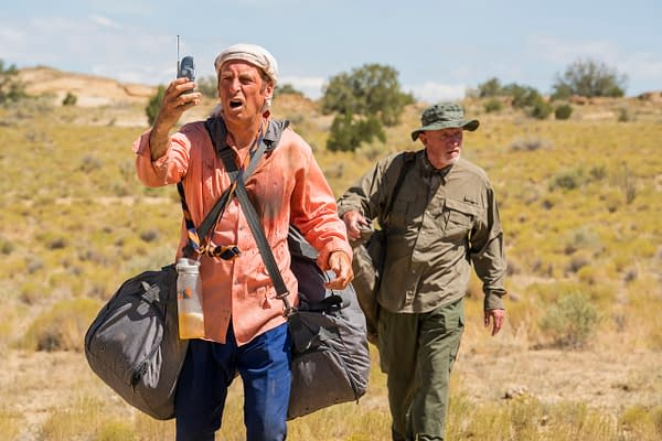 Jimmy and Mike need to get off the road and out of sight in Better Call Saul, courtesy of AMC.