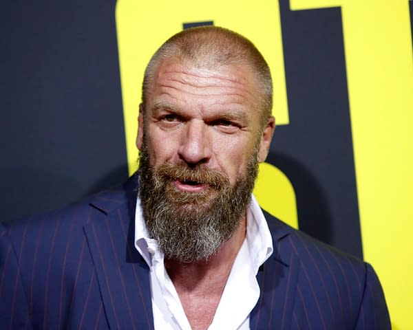 "Triple H at the ""Stuber"" Premiere at the Regal LA Live on July 10, 2019 in Los Angeles, CA. Editorial credit: Kathy Hutchins / Shutterstock.com"