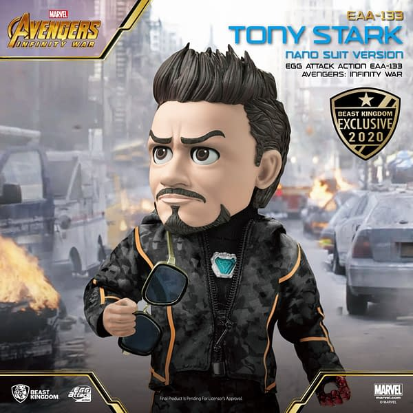 Tony Stark Egg Attack Action Summer Exclusive from Beast Kingdom
