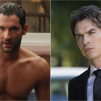 Those Lucifer/TheVampire Diaries rumors got put to bed. (Images: Netflix/The CW)