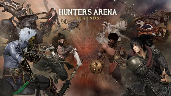 The key art for MOBA-RPG hybrid Hunter's Arena Legends, developed and published by Mantisco.