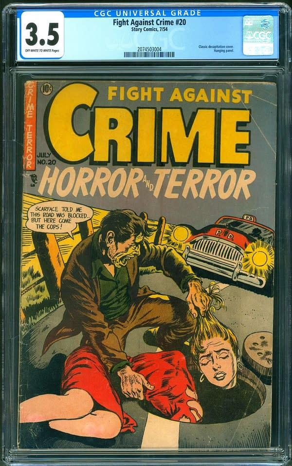 The copy of Fight Again Crime #20 that is currently up for auction on ComicConnect. Image Credit: ComicConnect
