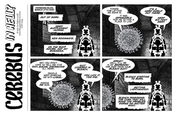 Page from Cerebus In Hell's Batvark: Contagion