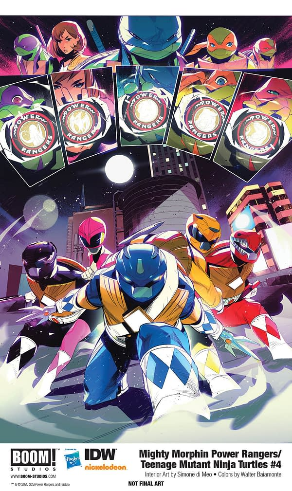 Power Rangers/TMNT #4 [Preview]