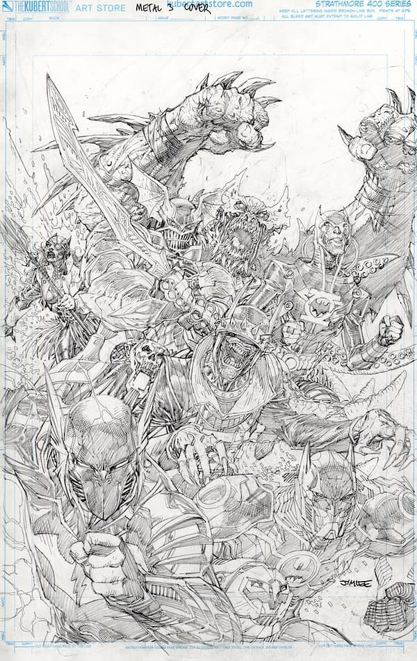 Jim Lee Revisits His New 52 Justice League Cover For Metal #3