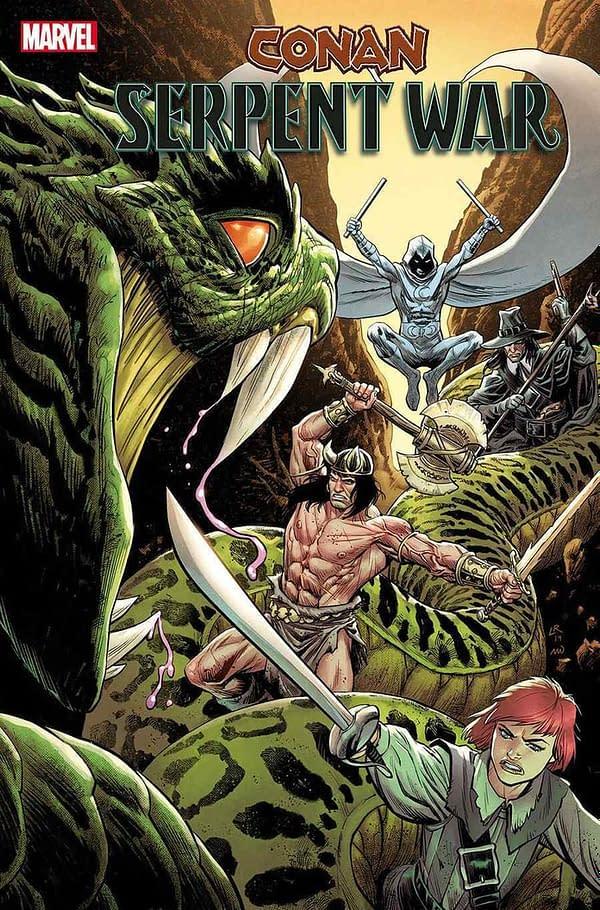 Conan/Moon Knight/Solomon Kane/Dark Agnes Crossover With Serpent War