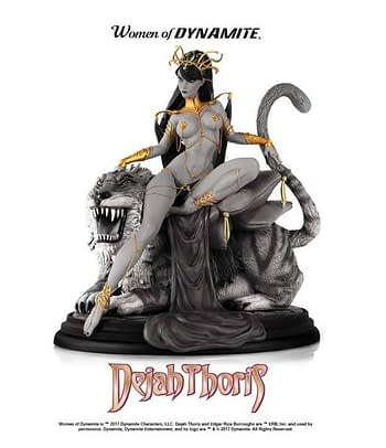 Read Warlords of Mars #1 with the J. Scott Campbell Cover that Inspired the Dejah Thoris Statue