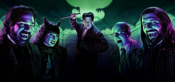 Laszlo, Nadja, Guillermo, Colin, and Nandor are back for What We Do in the Shadows season 2, courtesy of FX.