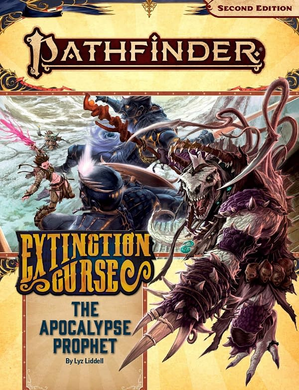 The cover of The Apocalypse Prophet, a new Adventure for the Pathfinder: Extinction Curse Adventure Path by Paizo.