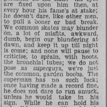 I'm Glad I'm Not a Super clipping, 08 Dec 1928, via newspapers.com.