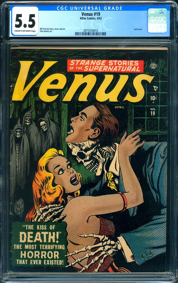 The copy of Venus #19 up for auction on ComicConnect. Image Credit: ComicConnect