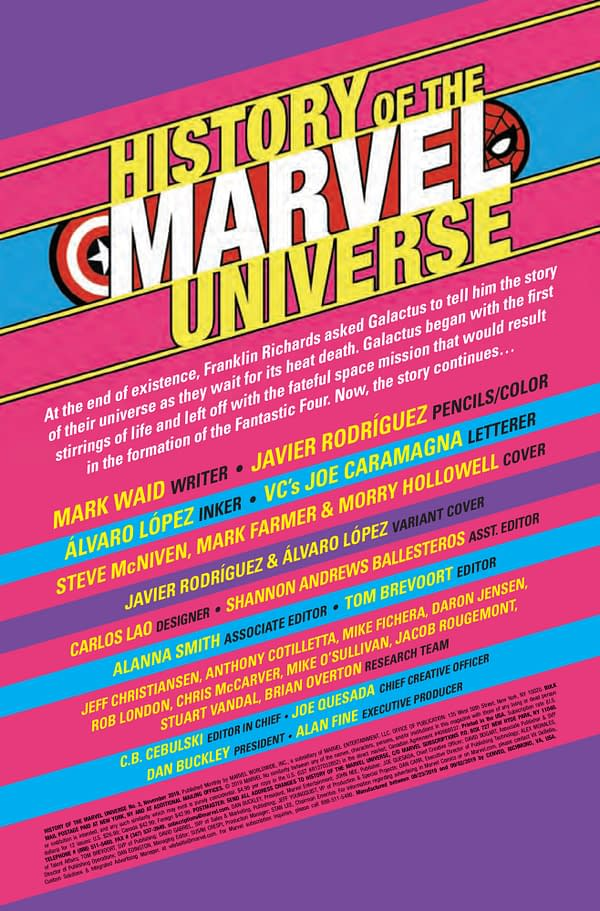 History of the Marvel Universe #3 [Preview]
