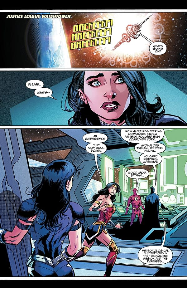 Titans #22 art by Paul Pelletier, Andrew Hennessy, and Adriano Lucas