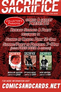 From The Writer Of Our Love Is Real Comes A New Limited Run Comic – Sacrifice!