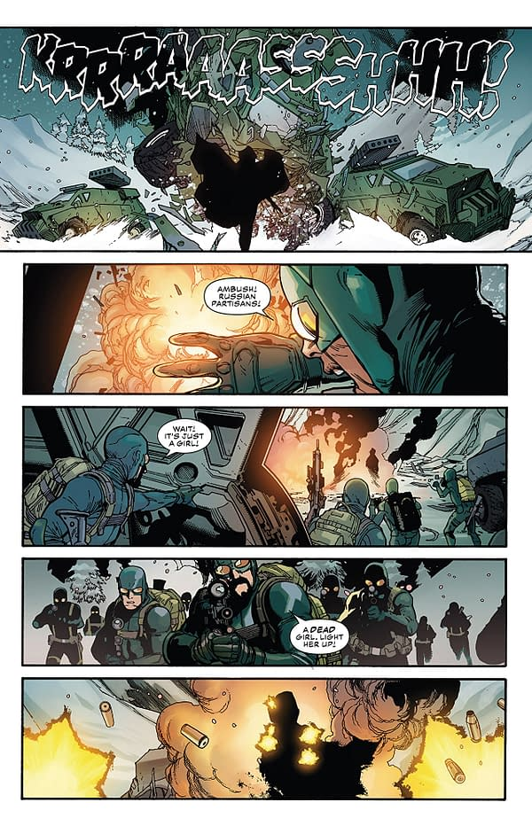 Captain America #1 art by Leinil Francis Yu, Gerry Alanguilan, and Sunny Gho