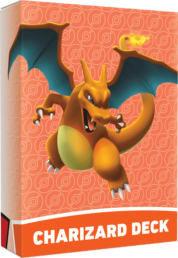 The deck box for the Charizard deck, for the Pokémon Trading Card Game Battle Academy.